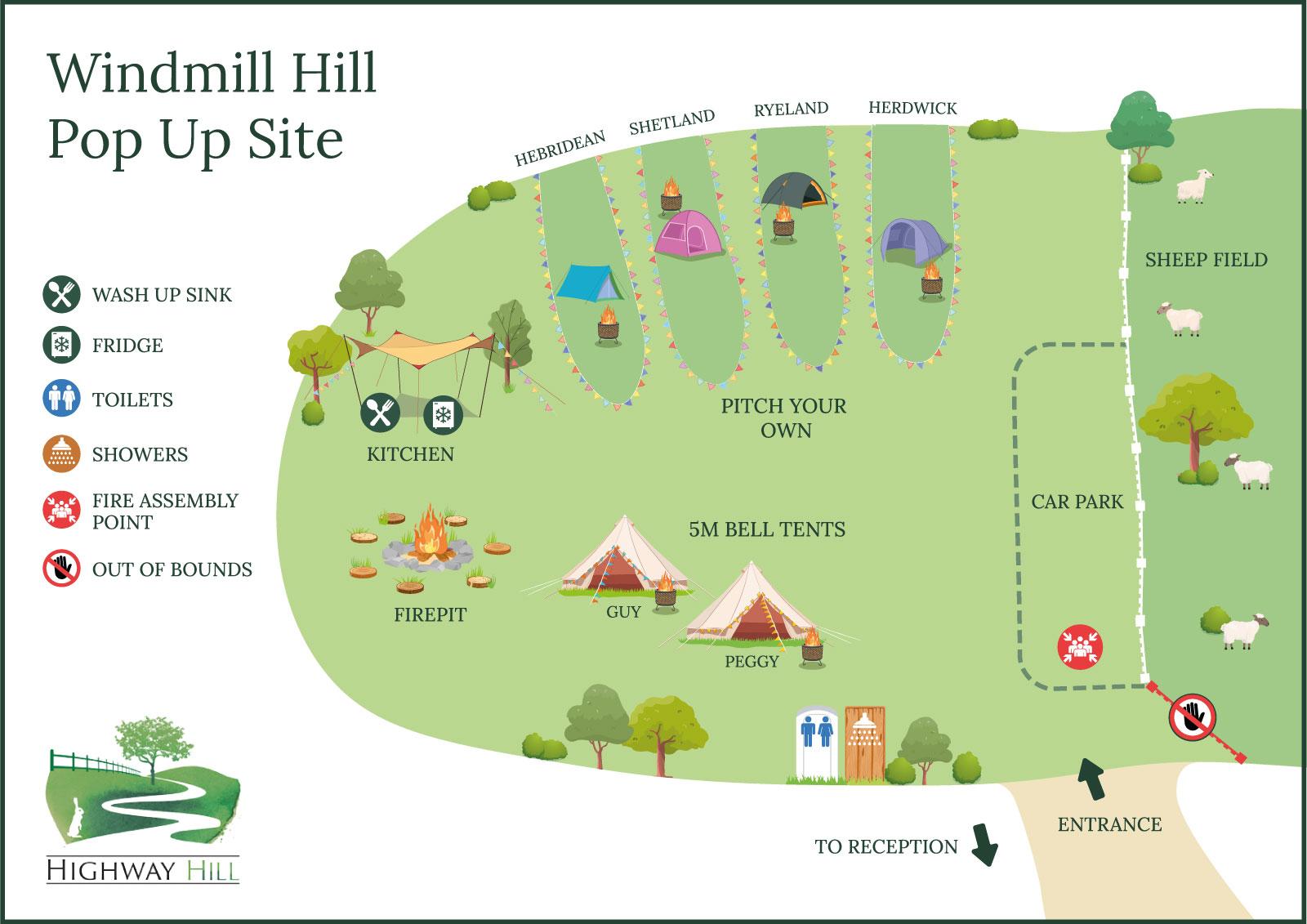 Windmill Hill Popup Map